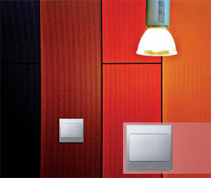 Silver Mallia switch by Legrand
