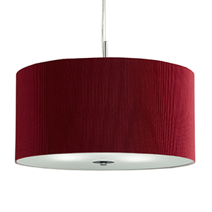 Drum pleat pendant - 3 light pleated shade pendant