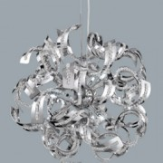 Sparkles 9 light chrome pendant fitting with glass detail