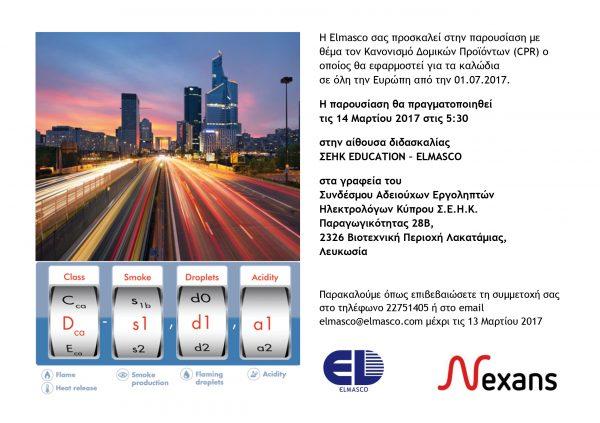 Elmasco Nexans CPR presentation