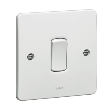 Synergy Legrand White one-gang switch